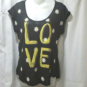 Belle de Jour Love daisy burn out tee shirt